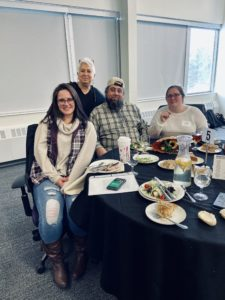 Samantha Gentz, Shawn Dort, Courtney Foster, and Benay Rubenstein at Pathways Luncheon, Fall 2020