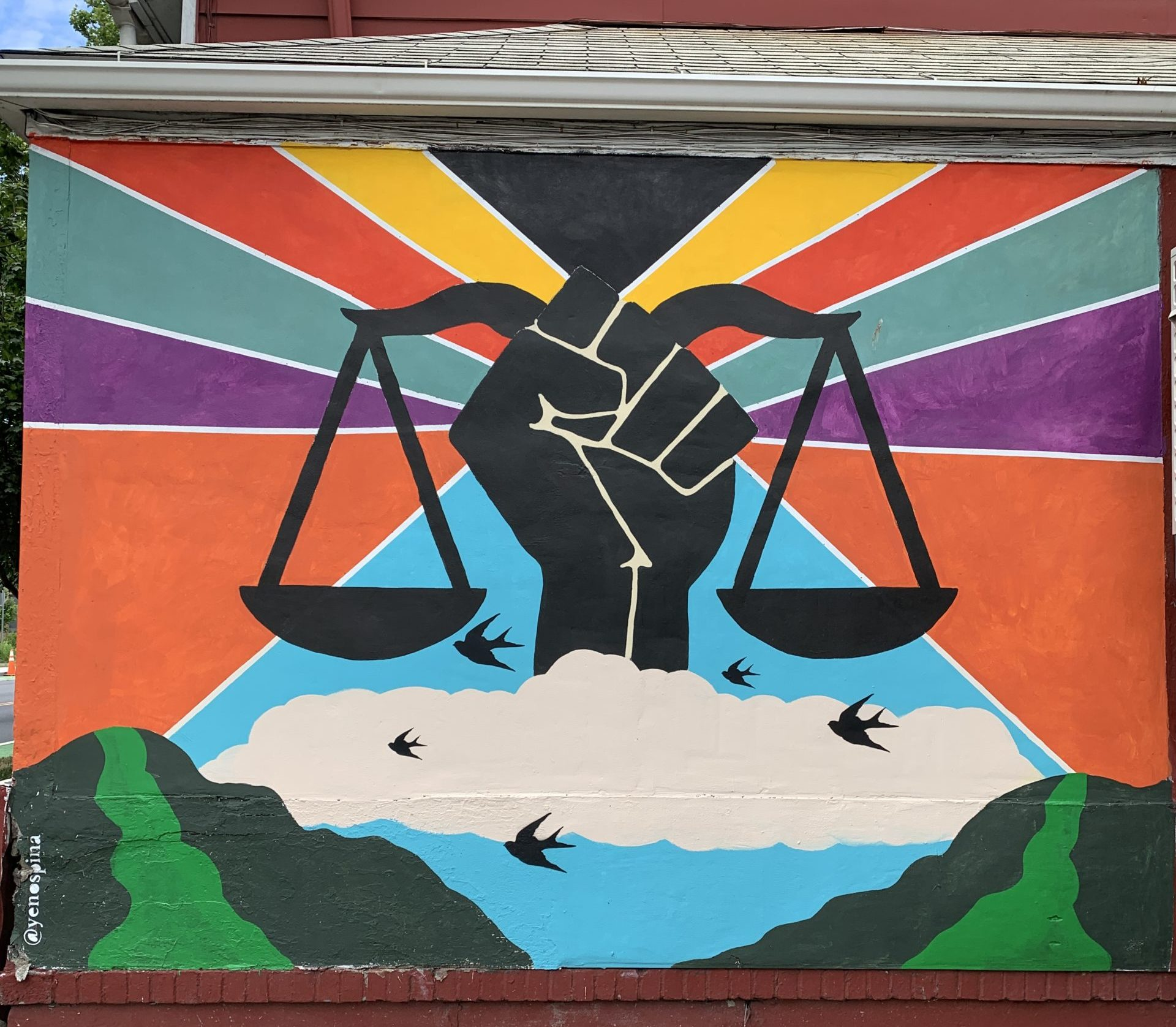 Mural on the OAR building