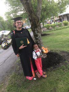 Sheena Venay, TC3 Graduation with son Zion, 2019