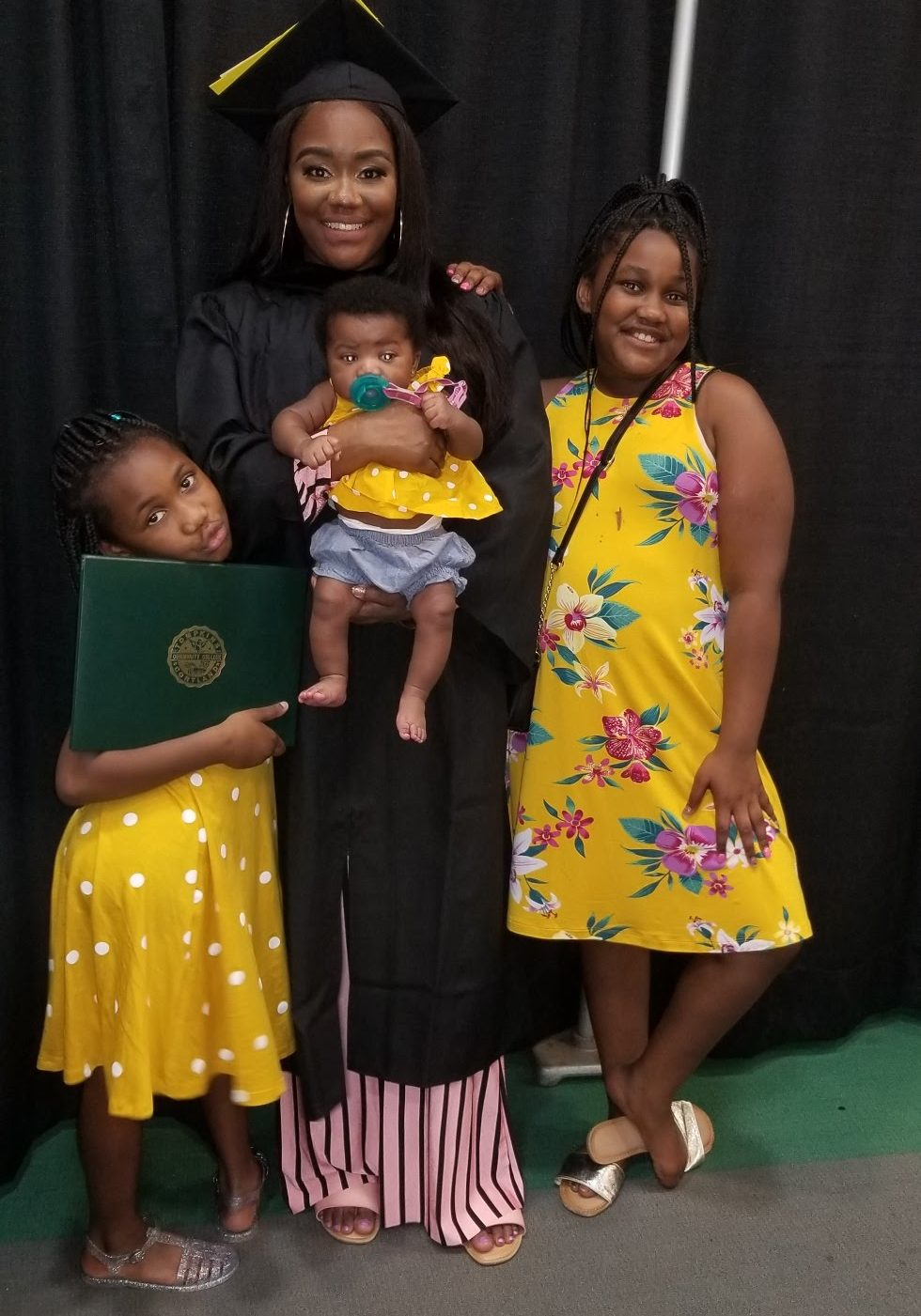 Asia McBean with her three daughters